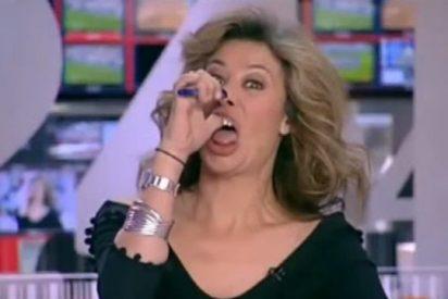Pillada monumental a la presentadora del telediario en el canal 24 horas de TVE