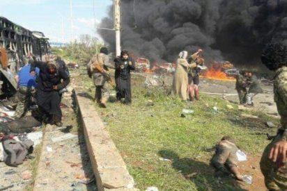 Los fanáticos islámicos atacan un convoy de refugiados y matan a 100 mujeres y niños