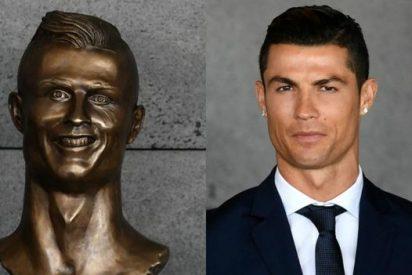 El horroroso busto que le han hecho a Cristiano Ronaldo para su aeropuerto
