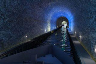 Así es el túnel para barcos que atraviesa una montaña en Noruega