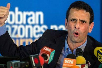 El líder opositor venezolano Capriles denuncia que ha sido inhabilitado por el Gorila Rojo Maduro para 15 años