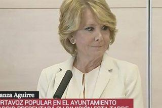 Esperanza Aguirre tira la toalla tras 30 años como estrella de la política española