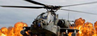 Los mortíferos helicópteros 'Mil Mi-24' y las bestias suicidas del ISIS volando por el aire en pedazos