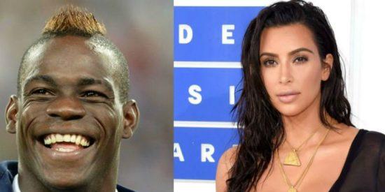 El feroz Balotelli se mofa de las fotos del tremendo culo de Kim Kardashian