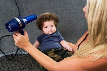 Este es el bebé con el mejor pelo del mundo