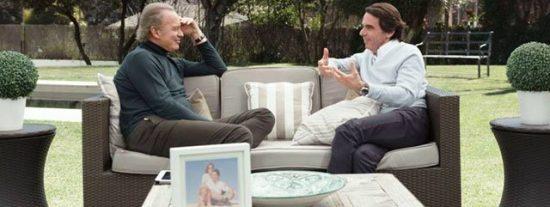 Bertín Osborne calca su bochornosa entrevista a Bono con otro masaje a Aznar