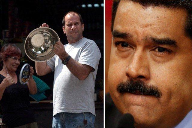 El cacerolazo a un quemado Maduro durante su cocido programa dominical