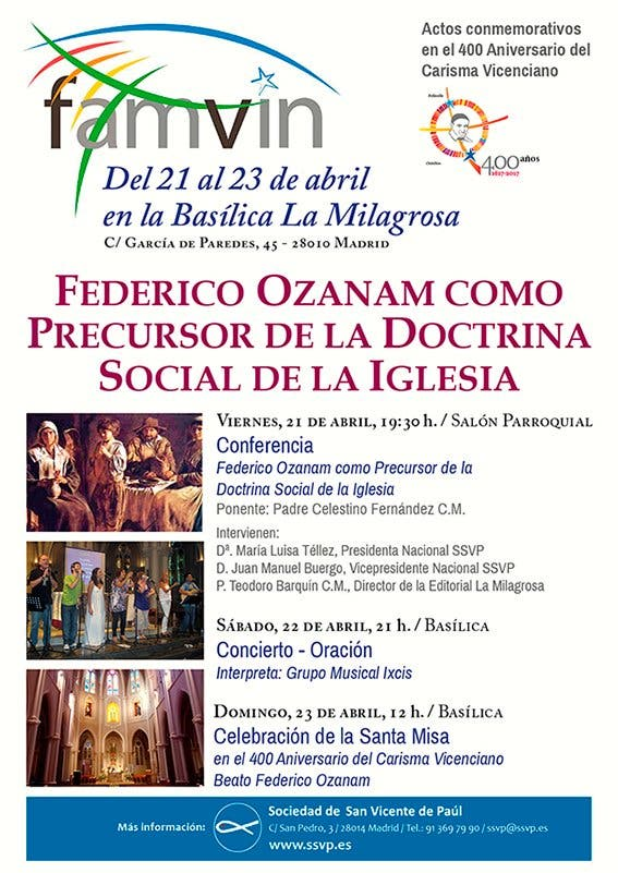 Actos conmemorativos en el 400 Aniversario del Carisma Vicenciano