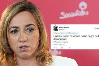 Un exparlamentario de Bildu en Navarra se burla en Twitter de la muerte de Carme Chacon