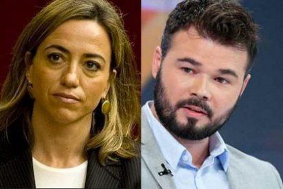"""El tuit sobre Carme Chacón que eliminó Gabriel Rufián por el que ella le llamó """"ridículo"""""""