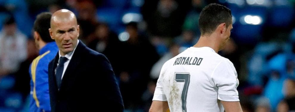 Cristiano Ronaldo lleva un rebote terrible por culpa de Zinedine Zidane
