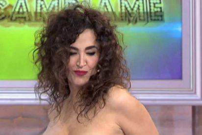 """El descarado 'striptease' de Cristina Rodríguez en 'Cámbiame': """"¡He visto pezón!"""""""