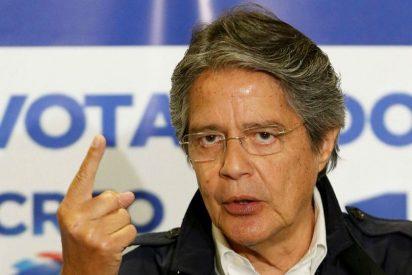"""Guillermo Lasso denuncia un """"fraude burdo"""" en Ecuador y pide socorro a la OEA"""
