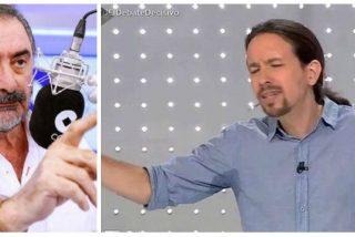 La rumba de Carlos Herrera sobre el tramabús y el 'guarro' de Pablo Iglesias
