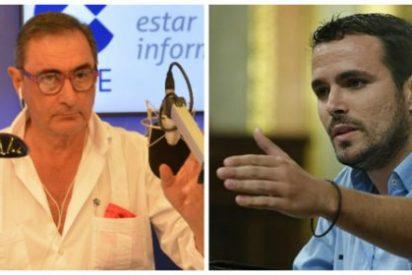 """Carlos Herrera masacra a Alberto Garzón: """"No puede ser más tonto"""""""