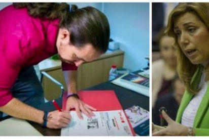 La falsa foto que pone como el bicho del pantano a la militancia socialista afín a la 'sultana' Susana Díaz