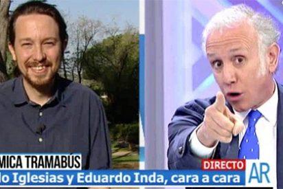 El divertido desliz de Eduardo Inda que pone contra las cuerdas al matrimonio 'Pablirenin'