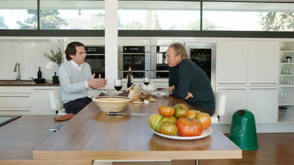Bertín Osborne hace su mínimo histórico en Telecinco con el expresidente Aznar en 'Mi casa es la tuya'