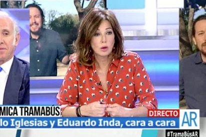 Ana Rosa e Inda 'apedrean' el bus del odio del arrogante 'juez' Iglesias