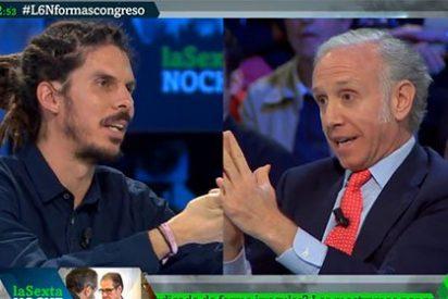 """Eduardo Inda da una ducha al 'rastas' de Podemos: """"Dejad el payasismo y de montar circos"""""""
