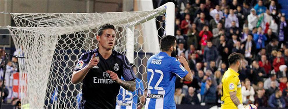 James Rodríguez le 'monta un numerito' a Zidane en el trámite (que no lo fue tanto) de Leganés