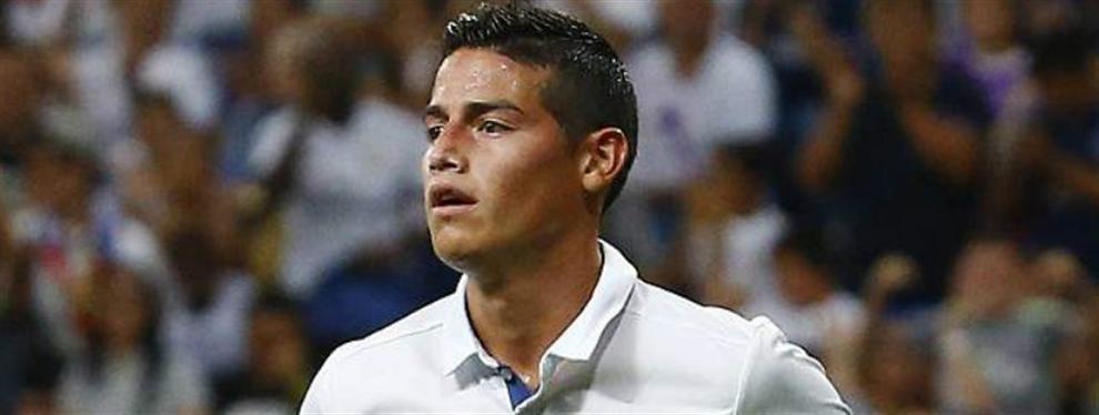 Las dos opciones que maneja el Real Madrid para sustituir a James (y una es una sorpresa bomba)