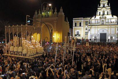 Cinco facinerosos detenidos por intentar provocar el pánico en la Madrugá de la Semana Santa de Sevilla