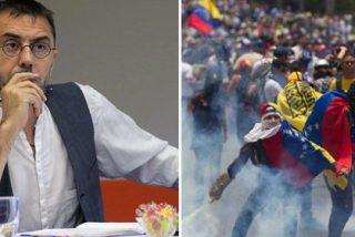 """Así se irrita Monedero cuando una periodista de 'OKDiario' le arrincona con Venezuela: """"Te contesto si me dices cómo se llama el presidente de Portugal"""""""