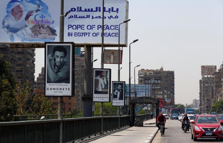 Tres Papas cristianos...y uno musulmán en El Cairo