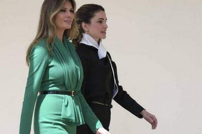 Rania de Jordania da una lección de estilo a Melania Trump en la Casa Blanca