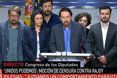 La payasada de la moción de censura le dura a Podemos media hora: PSOE y Ciudadanos le dicen que no