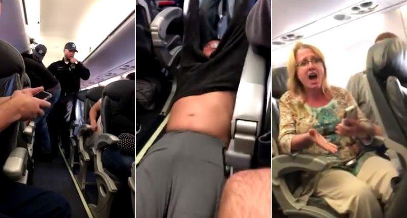 Así sacan a rastras al médico del avión porque había 'overbooking'... ¡y por sorteo!