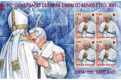 El Vaticano emite un sello en conmemoración de los 90 años de Benedicto XVI