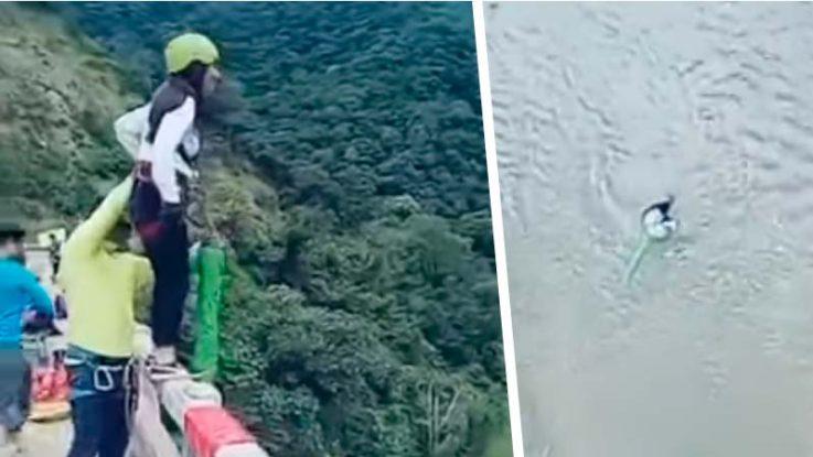 La joven que salta en 'bungee jumping' y se estrella contra el suelo
