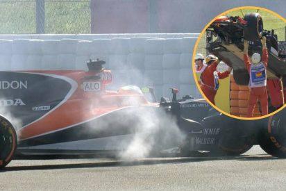 El McLaren de Alonso se gripa y detiene a los 12 minutos en los Libres 1