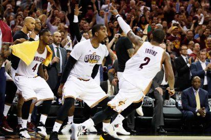 Irving y James remontan ante los Boston Celtics y dejan a los Cavaliers al borde de las Finales de la NBA