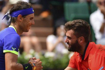 Nadal supera un cómodo debut ante Paire y se cita con Haase en segunda ronda