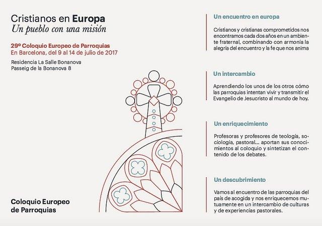 Barcelona acogerá el próximo Coloquio Europeo de Parroquias