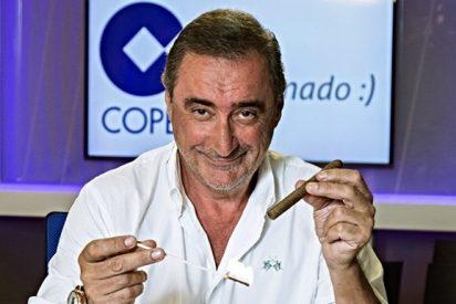 """Carlos Herrera reta a Podemos: """"No hay cojones a quitarle la calle a Santiago Bernabéu"""""""