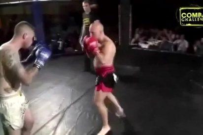 [VÍDEO] Duele con escucharlo: Luchador de la MMA se rompe la pierna tras lanzar una patada