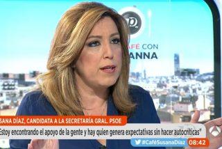 [VÍDEO] La cara de Susana Díaz escuchando a Pablo Iglesias en Antena 3 es un poema