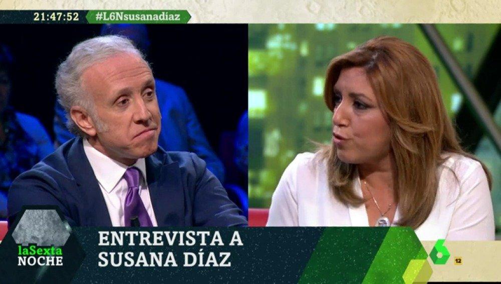 Susana Díaz se pelea con Eduardo Inda por el sueldo