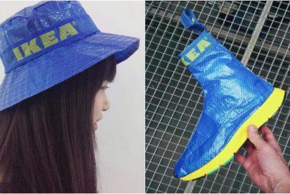 [VÍDEO] Convertir las bolsas azules de la tienda Ikea en ingeniosas prendas es la nueva moda