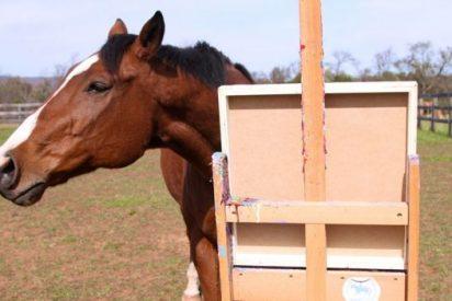 La curiosa historia del caballo que aprendió a pintar