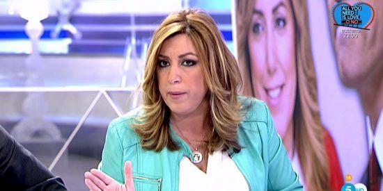 Ana Rosa Quintana se queda a cuadros cuando se entera del 'arma secreta' de Susana Díaz