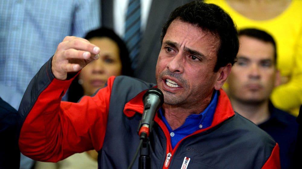 """Henrique Capriles: """"La ONU mandará una misión a Venezuela para investigar la violación de derechos humanos"""""""