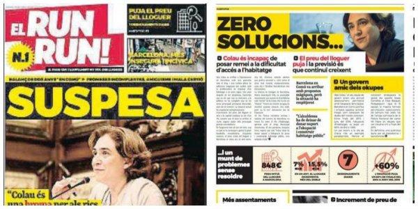 """'El Run Run' que quita el sueño a Ada Colau, """"el diario que el Ayuntamiento no quiere que leas"""""""