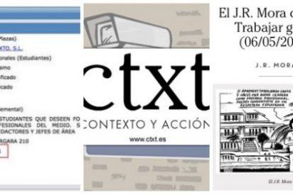 Cinismo progre en 'CTXT': pide becarios gratis mientras clama por la defensa de los derechos laborales