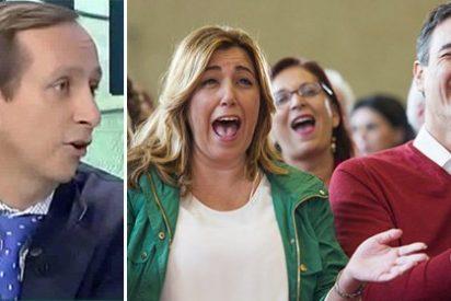 """Carlos Cuesta ridiculiza al PSOE con sus propias siglas: """"Solo les queda la pe de partido y se la están cargando"""""""