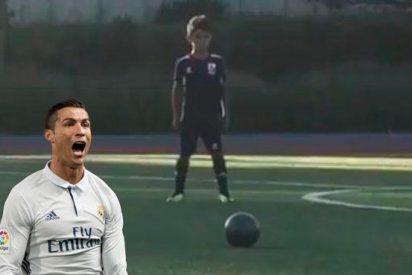 [VÍDEO] El golazo del hijo de Cristiano Ronaldo que 'vuelve loco' a medio mundo